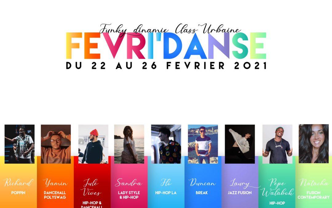 FEVRI' Danse / Stage de Danse du 22 au 26 février 2021