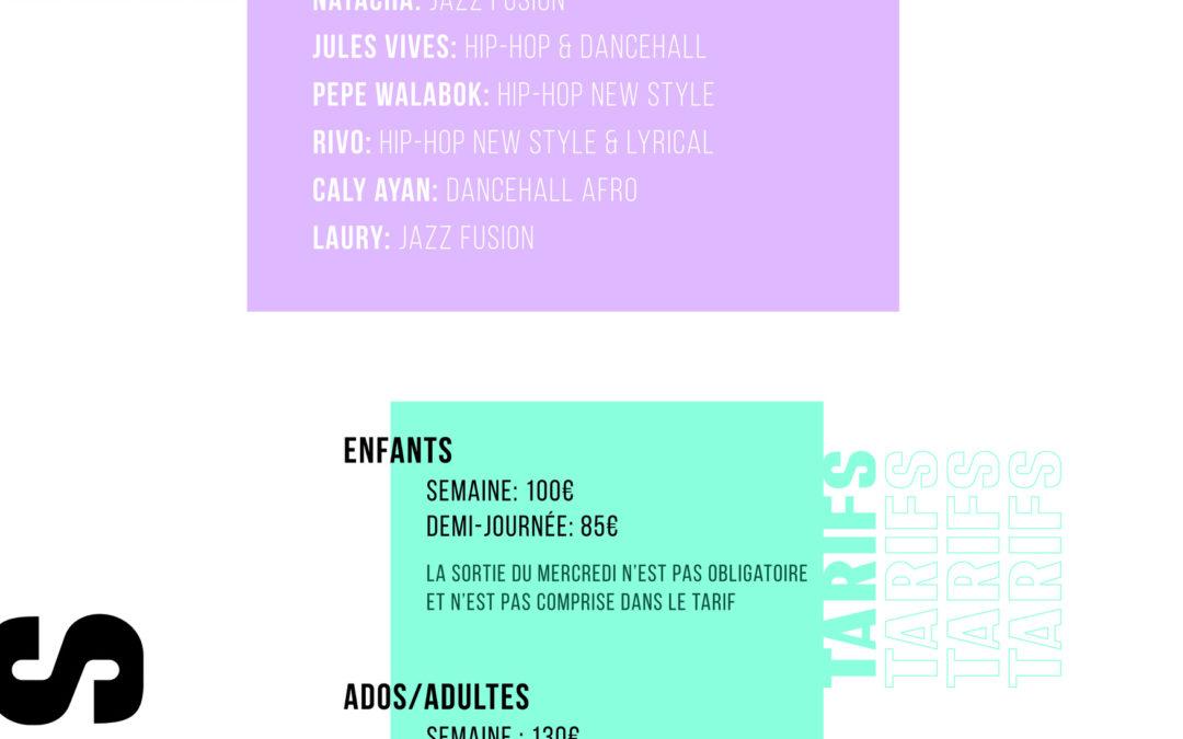 Tarifs // Summer Dance Camp Edition 6